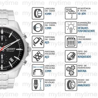 Relógio Orient Masculino Cronógrafo MBSSC222 P1SX