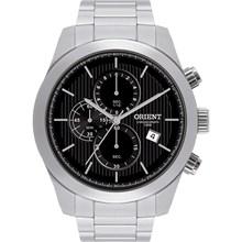 Relógio Orient Masculino Cronógrafo Prata Preto MBSSC039 P1SX