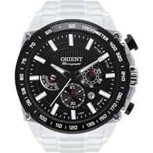 Relógio Orient Masculino Cronógrafo Prata Preto MBSSC078 P1SX