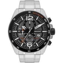 Relógio Orient Masculino Cronógrafo Prata Preto MBSSC164 G2SX