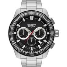 Relógio Orient Masculino Cronógrafo Prata Preto MBSSC166 P1SX
