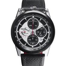 Relógio Orient Masculino Cronógrafo Preto Branco MBSCC042 SPPX