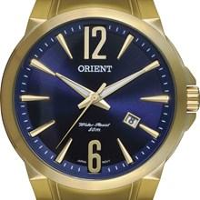 Relógio Orient Masculino Dourado Azul MGSS1074 D2KX