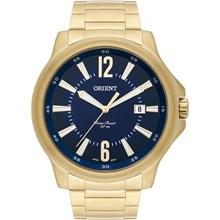 Relógio Orient Masculino Dourado Azul MGSS1113 D2KX