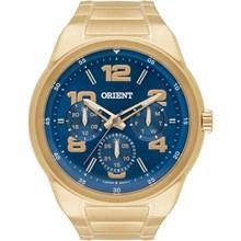 Relógio Orient Masculino Dourado Azul MGSSM022 D2KX