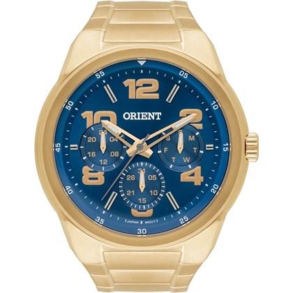 42146903ddf Relógio Orient Masculino Dourado Azul MGSSM022 D2KX - My Time