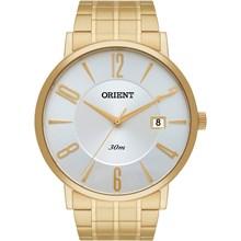 Relógio Orient Masculino Dourado Branco MGSS1092 S2KX