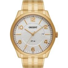 Relógio Orient Masculino Dourado Branco MGSS1093 B2KX