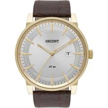 Relógio Orient Masculino Dourado Couro MGSC1007 S1NX