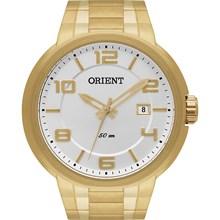 Relógio Orient Masculino Dourado Prata MGSS1088 S2KX