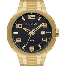Relógio Orient Masculino Dourado Preto MGSS1088 P2KX