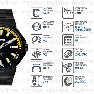 Relógio Orient Masculino MPSS1018 P1PX