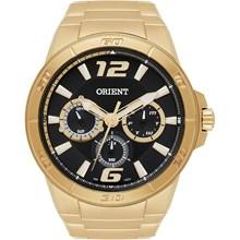 Relógio Orient Masculino Multifunção Dourado Preto MGSSM018