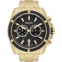 Relógio Orient Masculino Multifunção Dourado Preto MGSSM023 P1KX