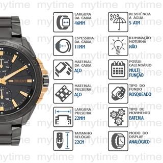 Relógio Orient  Masculino Multifunção MTSSM010 G1GX