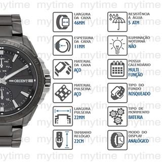 Relógio Orient  Masculino Multifunção MTSSM011 G1GX