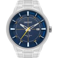 Relógio Orient Masculino Prata Azul Amarelo MBSS1309 D2SX