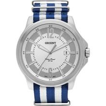 Relógio Orient Masculino Prata Azul Branco MBSN1002 S2BD