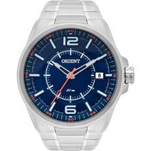 Relógio Orient Masculino Prata Azul Laranja MBSS1314 DOSX