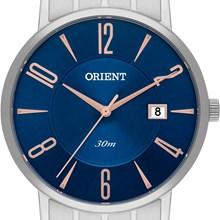 Relógio Orient Masculino Prata Azul MBSS1257 D2SX