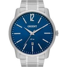 Relógio Orient Masculino Prata Azul MBSS1268 D2SX