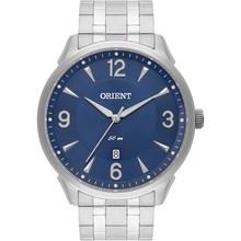 Relógio Orient Masculino Prata Azul MBSS1282 D2SX