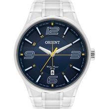 Relógio Orient Masculino Prata Azul MBSS1307 D2SX