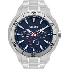 Relógio Orient Masculino Prata Azul MBSSM077 D1SX