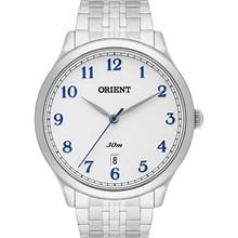 Relógio Orient Masculino Prata Branco Azul MBSS1311 B2SX