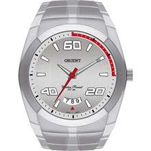 Relógio Orient Masculino Prata Branco MBSS1115 S2SX