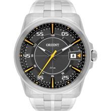 Relógio Orient Masculino Prata Cinza Amarelo MBSS1315 GYSX