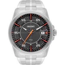 Relógio Orient Masculino Prata Cinza Laranja MBSS1315 GOSX