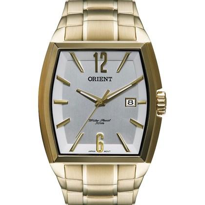 64a3720b7b2 Relógio Orient Masculino Quadrado Dourado Branco GGSS1014 S2KX - My Time