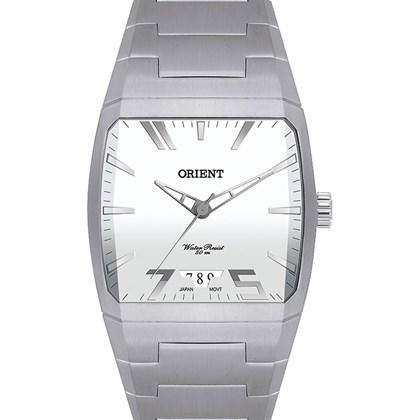 b0f869ca2 Relógio Orient Masculino Quadrado Prata Branco GBSS1044 S1SX - My Time
