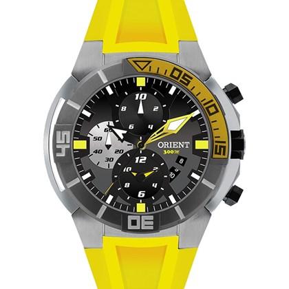 44a440d39f5 Relógio Orient Seatech Masculino Cronógrafo Titânio Borracha Amarelo  MBTTC003 P1GX