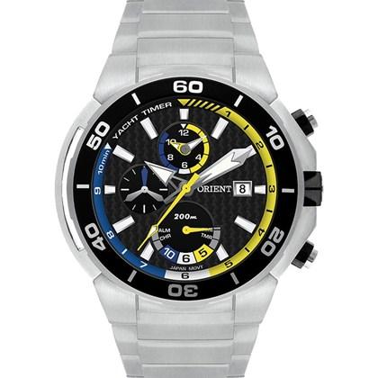 f661914b71d Relógio Orient Seatech Masculino Cronógrafo Titânio Borracha Amarelo Preto  MBTTC007 P1GX