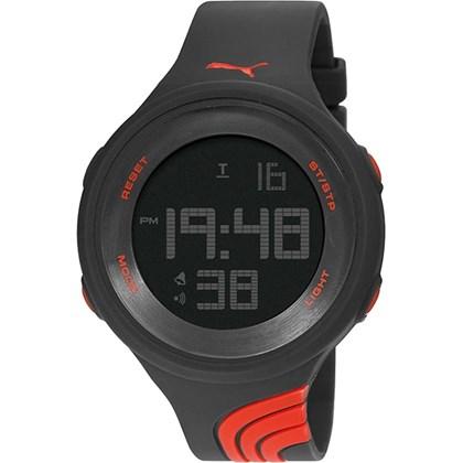 Relógio Puma Feminino Preto Vermelho 96215L0PANP1