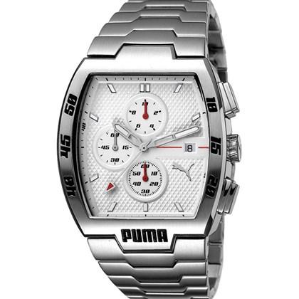 994c018b423 Relógio Puma Leader Masculino Cronógrafo Prata Branco 96095G0PMNA3 ...