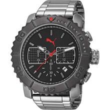 Relógio Puma Masculino Cronógrafo Prata Preto 96224G0PMNA3