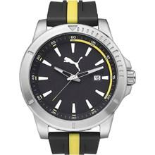 Relógio Puma Masculino Prata Preto Amarelo 96265G0PMNU2