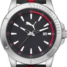 Relógio Puma Masculino Prata Preto Vermelho 96265G0PMNU1