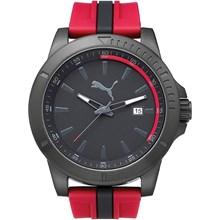 Relógio Puma Masculino Preto Vermelho 96265GPPMPU3