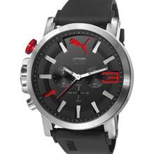 Relógio Puma Ultrasize Cronógrafo Masculino Prata Preto 96258G0PSNU1