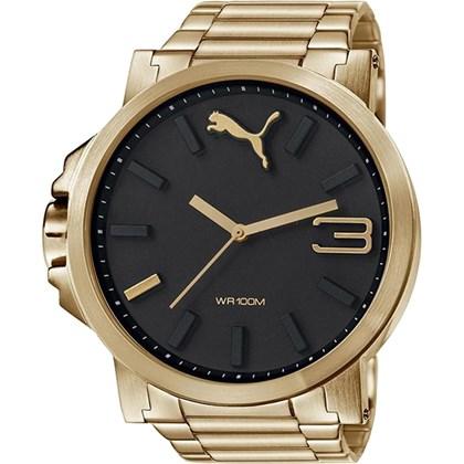 Relógio Puma Ultrasize Masculino Dourado Preto 96216GPPMDA5