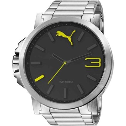 Relógio Puma Ultrasize Masculino Prata Preto 96239G0PMNA1