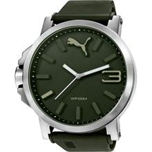 Relógio Puma Ultrasize Masculino Prata Verde 96239G0PMNU1
