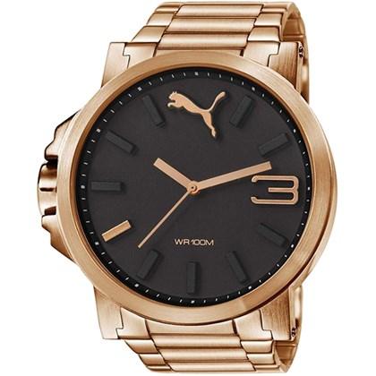 Relógio Puma Ultrasize Masculino Rose Preto 96216GPPMRA6