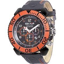 Relógio Sector Masculino Cronógrafo Preto Laranja WS30269J