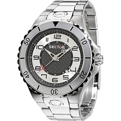 fe9bde8c0bb Relógio Sector Masculino Prata Preto WS30287S - My Time