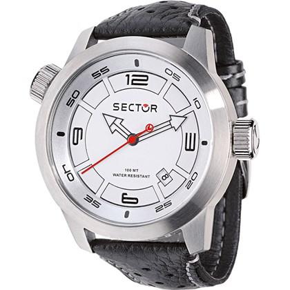 cf721c5cdd6b1 Relógio Sector Oversize Masculino Prata Branco WS30652Q - My Time